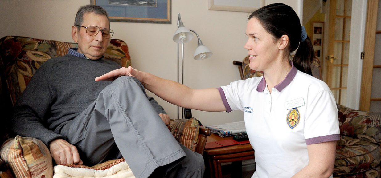 Angela delivering physio