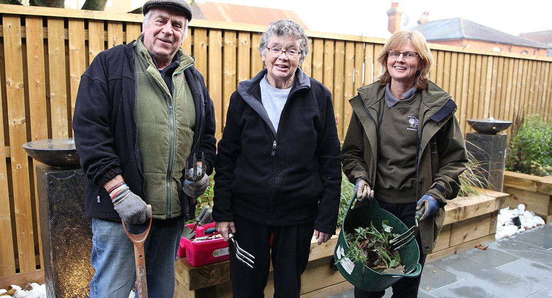 burton centre garden volunteers
