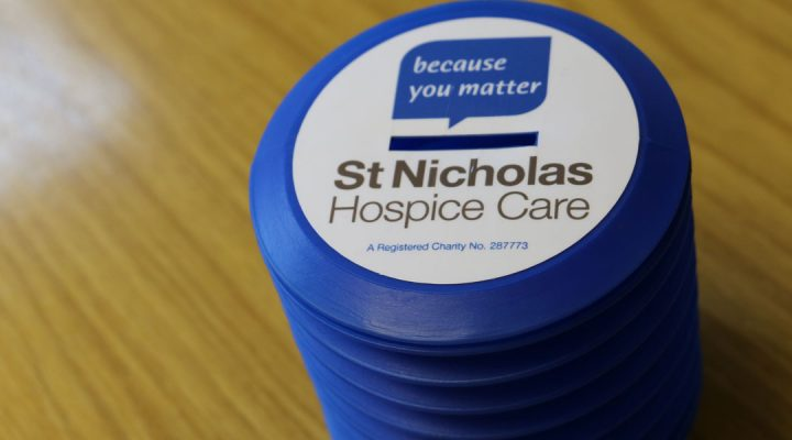 St NIcholas Hospice Care donation pot
