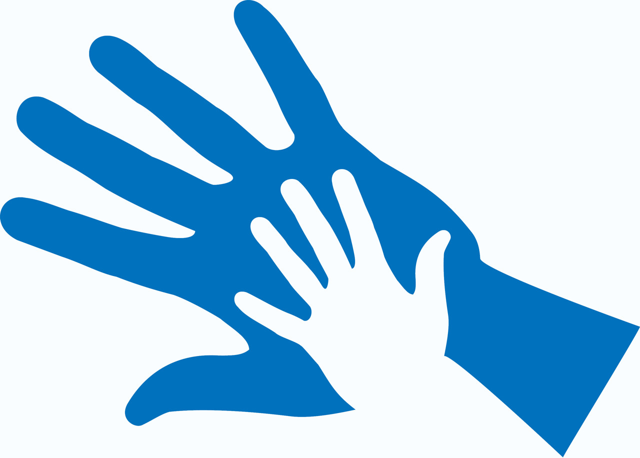 st nicholas hospice care family support hand icon