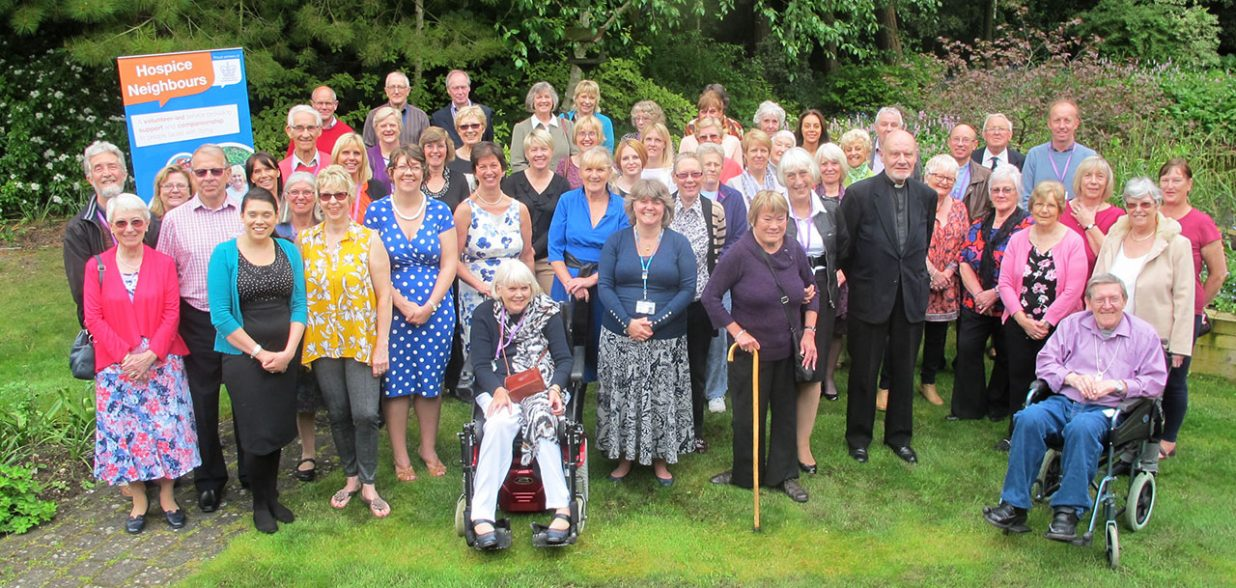 hospice neighbours celebrate in hospice garden
