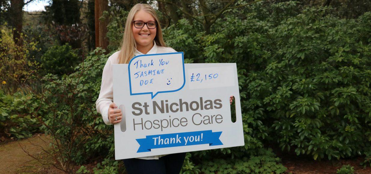 jasmine doe supporting st nicholas hospice care