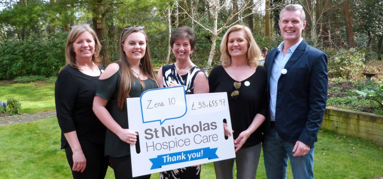 Zena 10 group cheque presentation for £38000