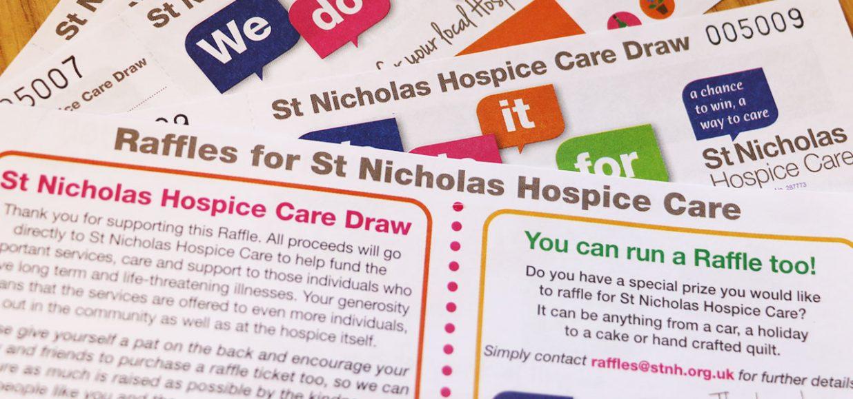 running a raffle st nicholas hospice care website
