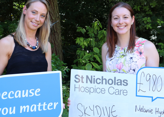 Melanie reaches new heights for our Hospice