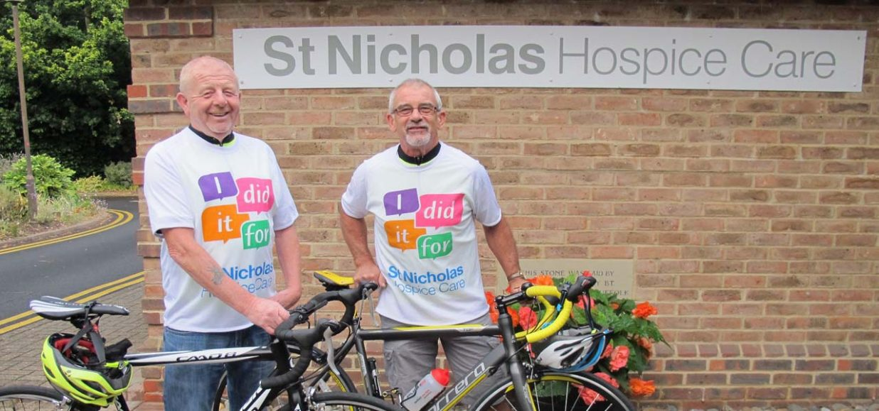 Pair's pedal power in memory of Yvonne raised thousands