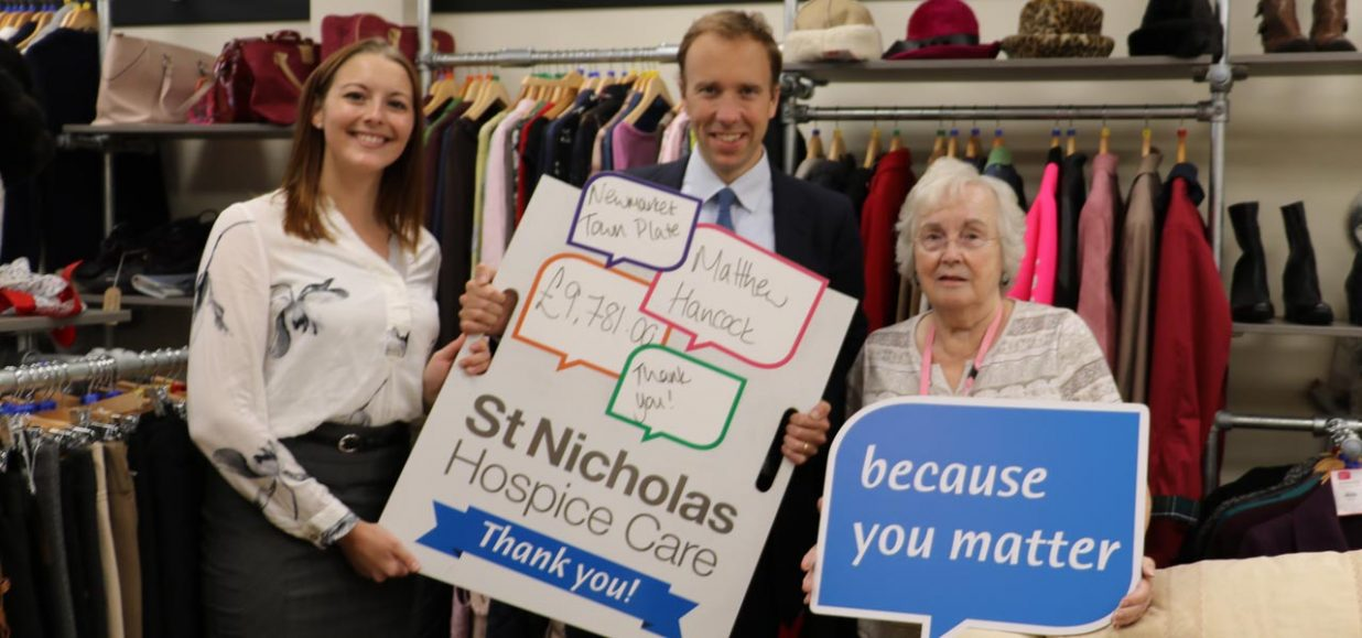 MP races his way to £9,781 for Hospice