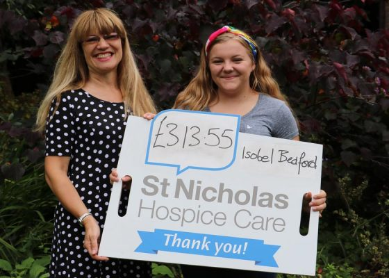 Charity cake sale was the icing on the cake for Isobel