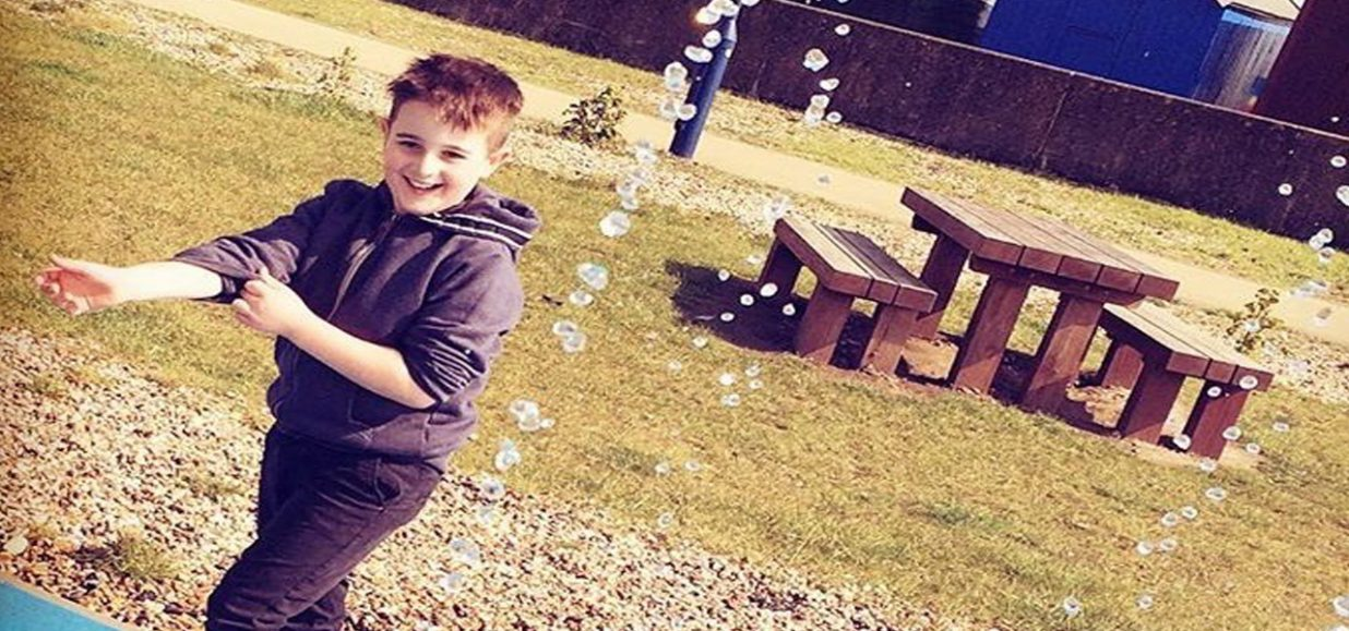 Noah makes donation to Hospice in Grandad's memory