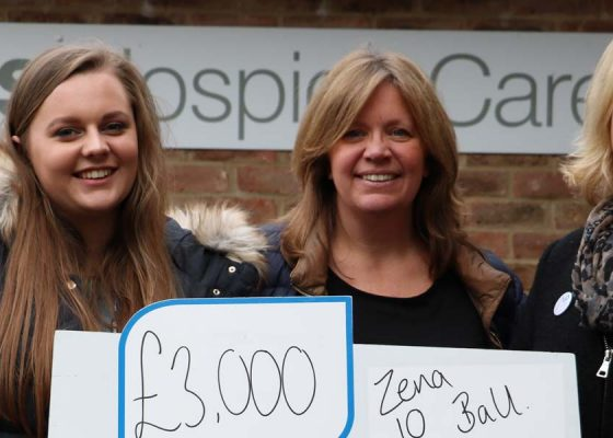 Charity ball adds to fundraising team's total