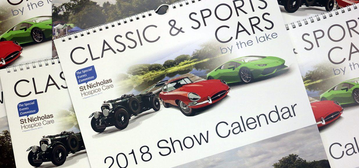 Classic Sports Cars By The Lake Calendar St Nicholas - Sports cars calendar 2018