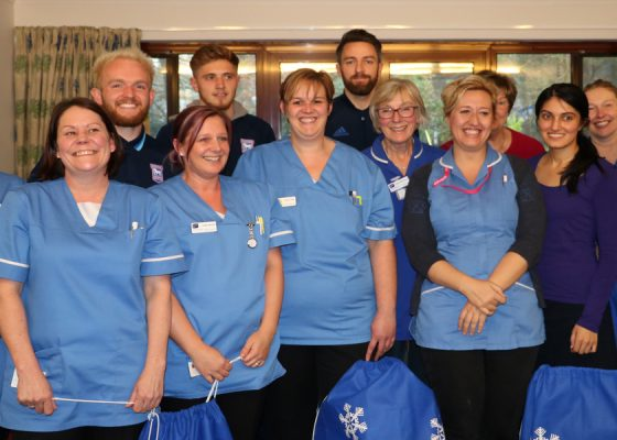 Ipswich Town Football Club help spread festive cheer with hospice visit
