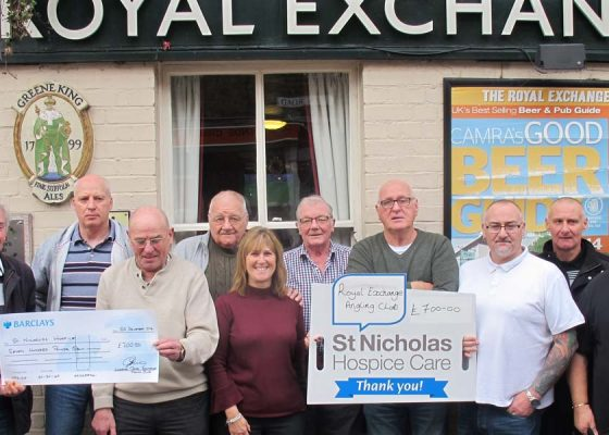 Royal Exchange Angling Club's efforts yield hundreds for Hospice