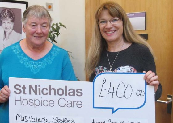 Charity draw raises £400