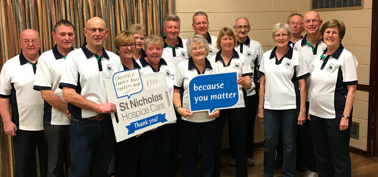 Hospice bowled over by club's donation