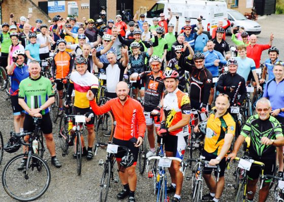 Cyclists' efforts raise thousands for charity