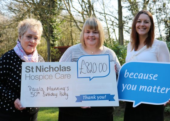 Birthday bash raises £820 for charity