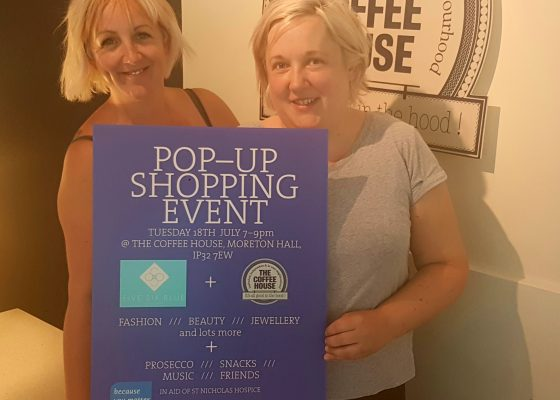 Pop-up shopping event will raise funds