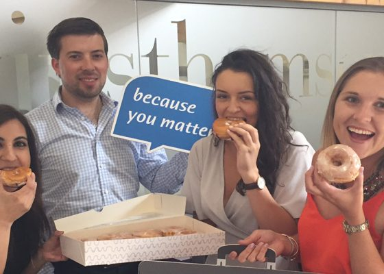 Business plans doughnut day to raise charity funds