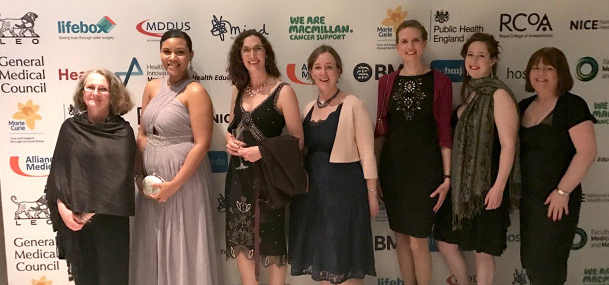 Hospice team honoured at prestigious BMJ awards