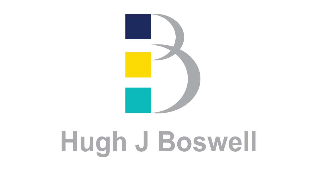 the logo for Hugh J Boswell