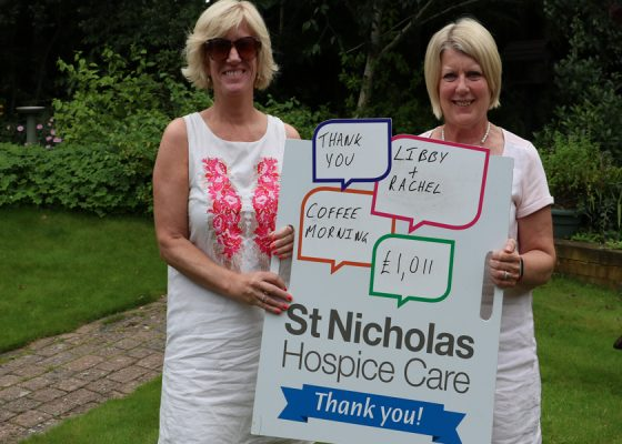 Fundraising friends raise cash for charity