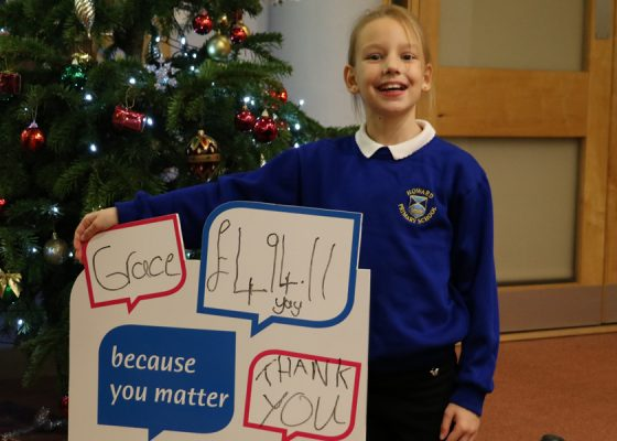 Grace's efforts saw hundreds raised