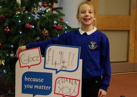 Grace's efforts saw hundreds raised