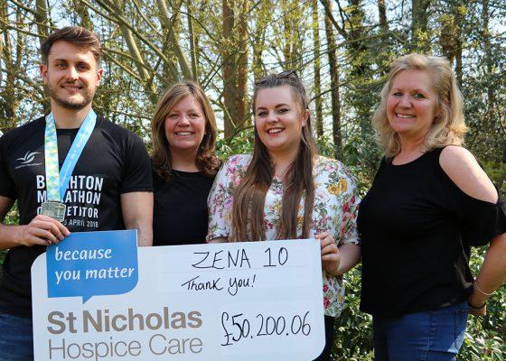 Zena 10 raises £50,000 for St Nicholas Hospice Care