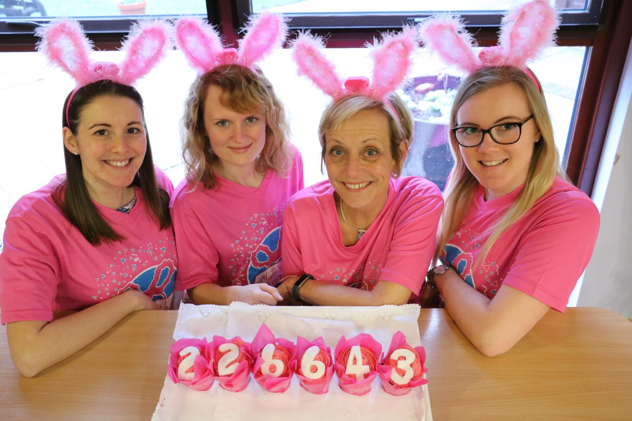 Glowing girls walk their way to thousands for the Hospice