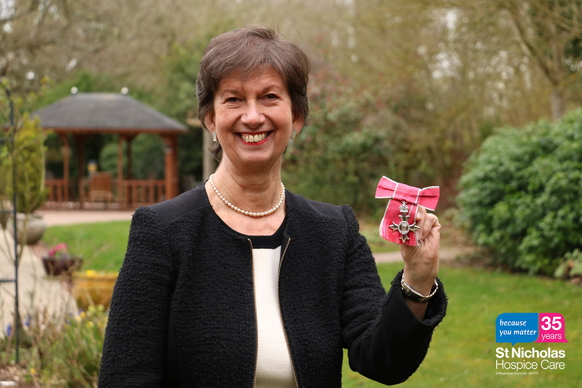 35 stories for 35 years: Hospice's CEO receives MBE