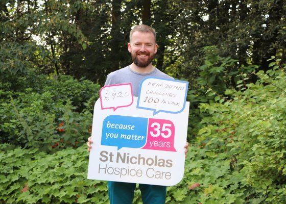 Fundraiser treks 100km for hospice