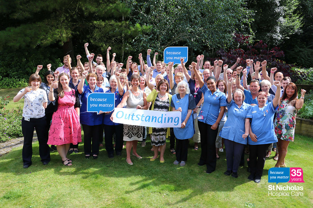 35 stories for 35 years: St Nicholas Hospice care rated as 'Outstanding'