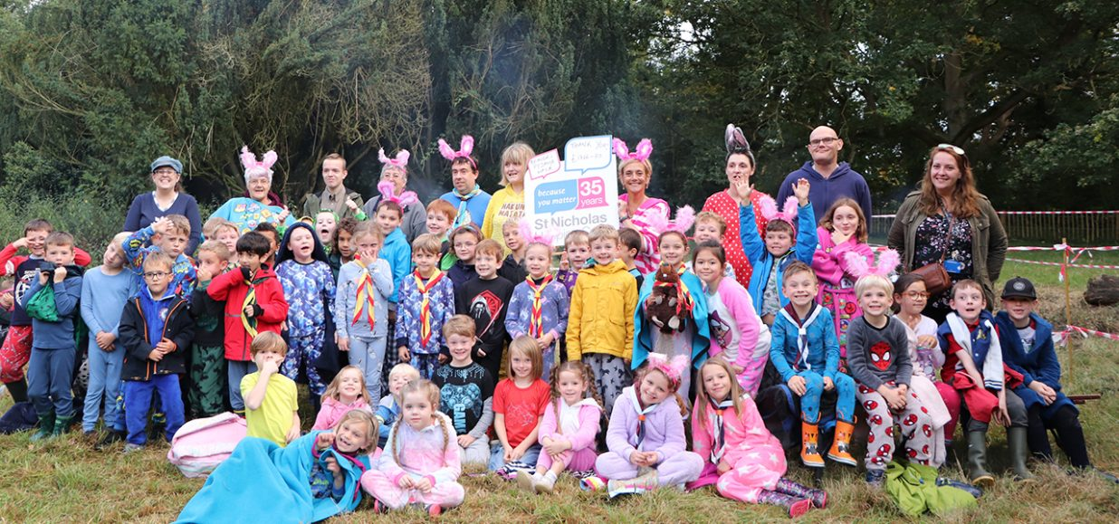 Fundraising Beaver Scouts celebrate with campfire