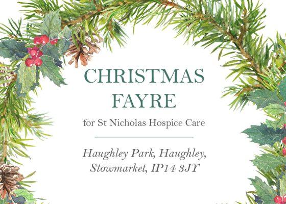 Christmas Fair at Haughley Park Barn in aid of St Nicholas Hospice Care