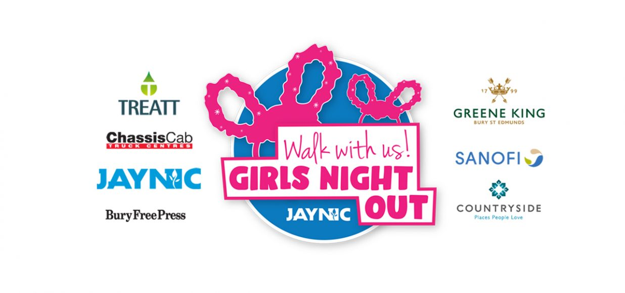 girls night out logo with sponsor logos alongside