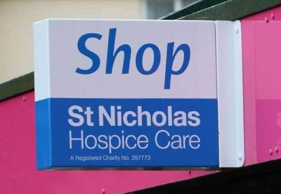St Nicholas Hospice Care shop sign