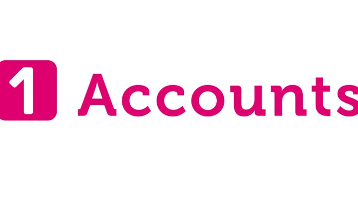 Logo for 1 Accounts, the sponsor of the Hospice's Corporate Supporters Club