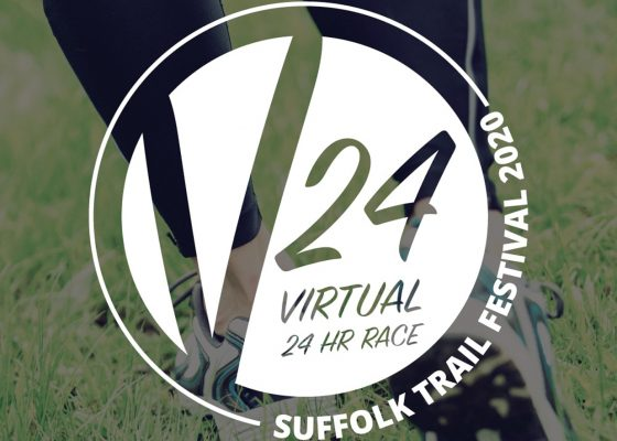 Logo for the V24 virtual outdoor 24 hour race