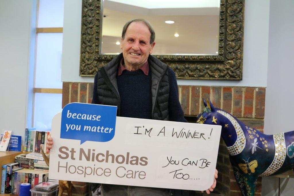 Mr Sturgeon, a St Nic's Lottery winner