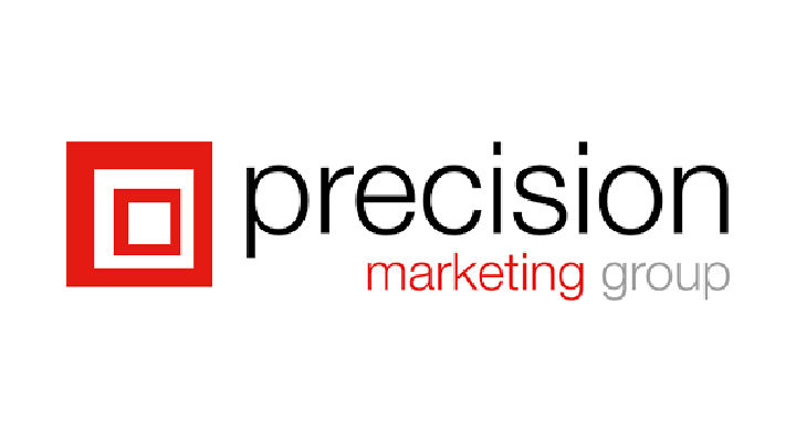 the logo for Precision Marketing Group