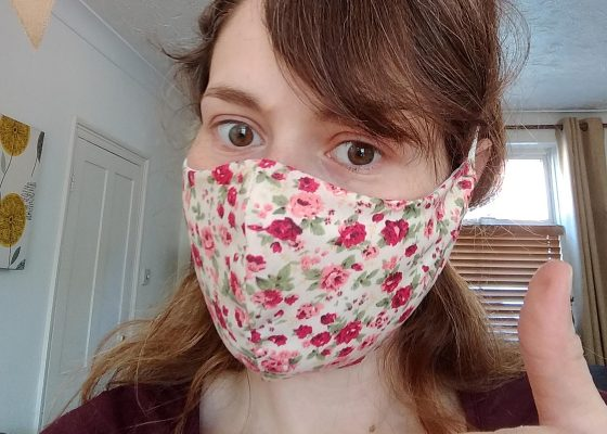 Supporter's face masks raise hundreds for the Hospice
