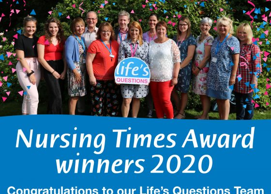 Life's Questions wins Nursing Times Award