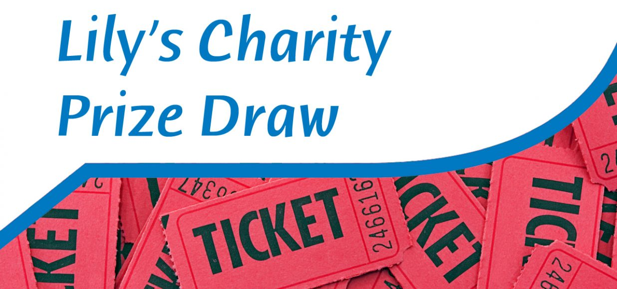 Lily's charity prize draw header
