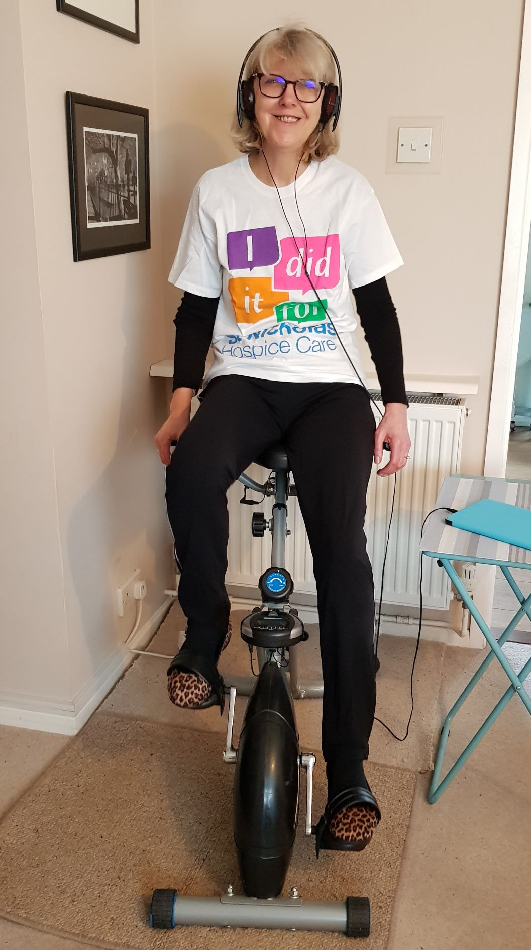 A charity fundraiser will be using her pedal power to raise funds