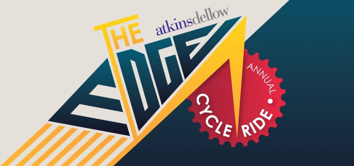 logo for The Edge cycle ride and sponsors Atkins Dellow