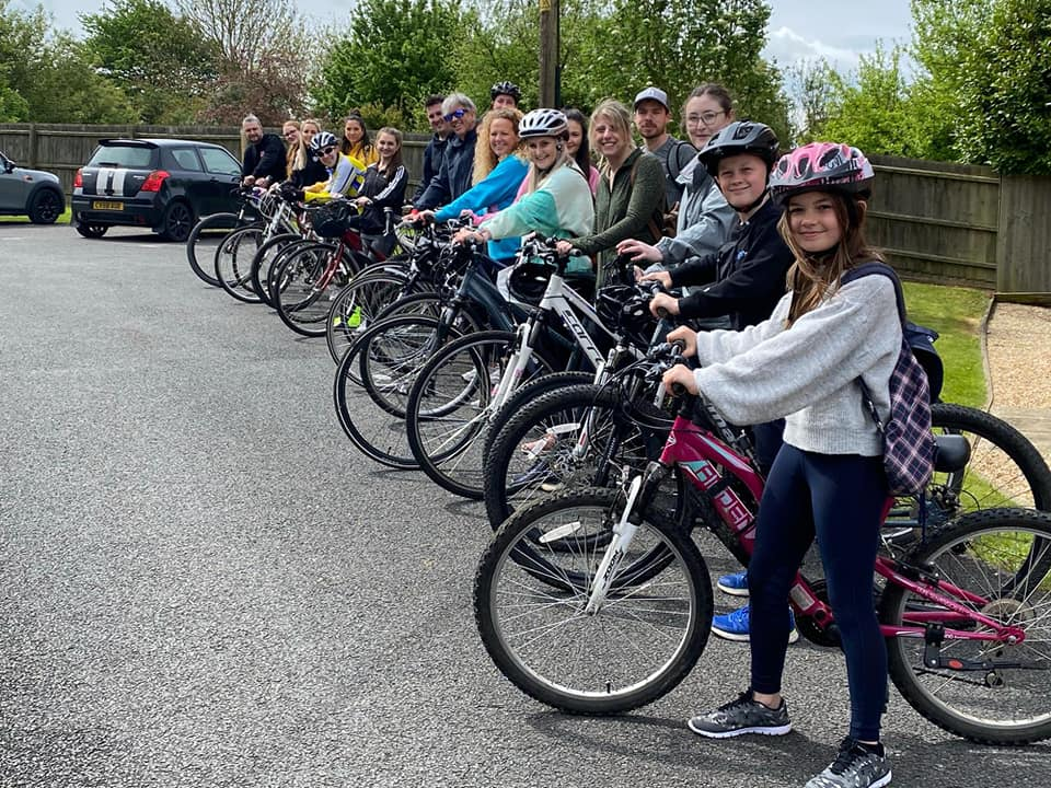 Atkins Dellow saddle up in support of Hospice's cycle challenge