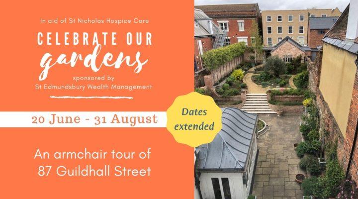 Back garden of 87 Guildhall Street alongside Celebrate Our Gardens event details