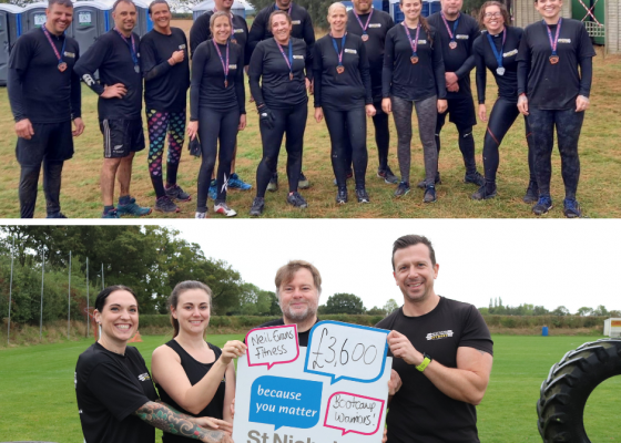 Fundraisers conquer obstacle challenge and raise thousands for charity